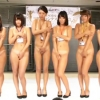 全裸で行われるAV制作会社女子社員の日焼けコンテストとヌルヌル乱交